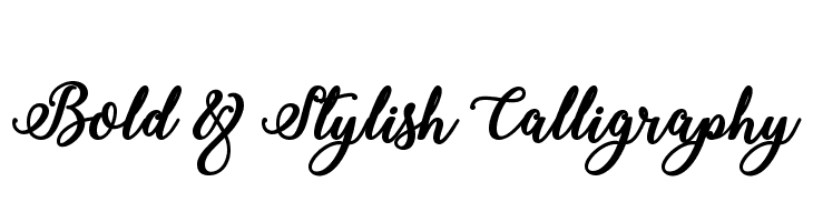 Bold & Stylish Calligraphy  Descarca Fonturi Gratis