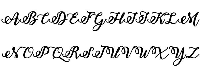 Bold Stylish Calligraphy Font UPPERCASE