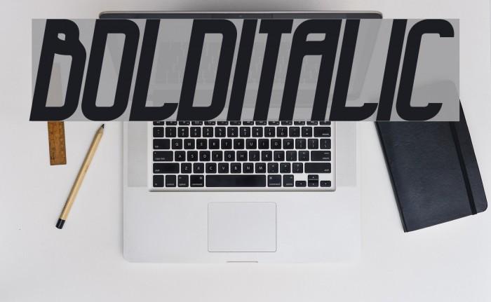 BoldItalic Schriftart examples