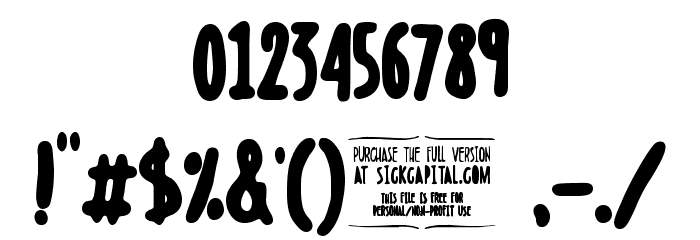 Boldenstein BLACK Font OTHER CHARS