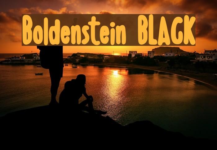 Boldenstein BLACK Font examples
