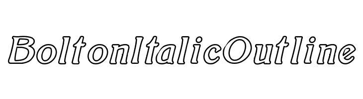 BoltonItalicOutline  नि: शुल्क फ़ॉन्ट्स डाउनलोड