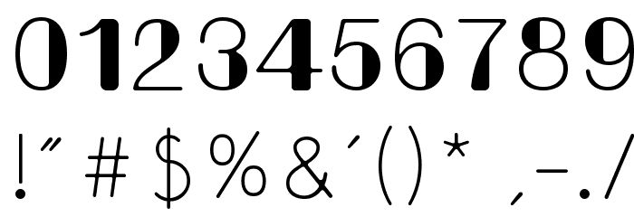 Bondi Font OTHER CHARS