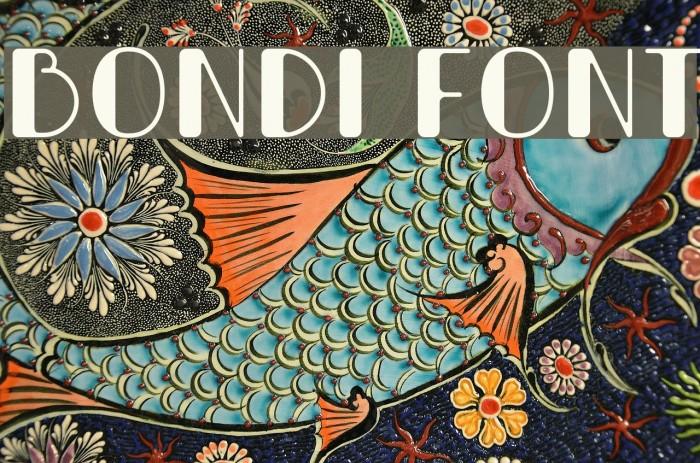 Bondi Font examples