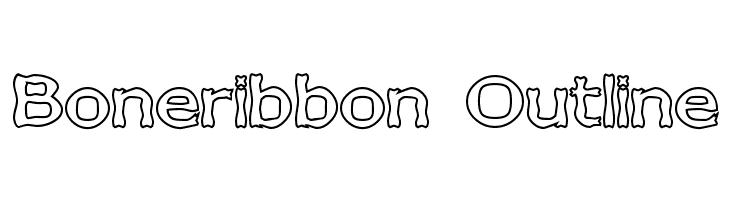 Boneribbon Outline  baixar fontes gratis