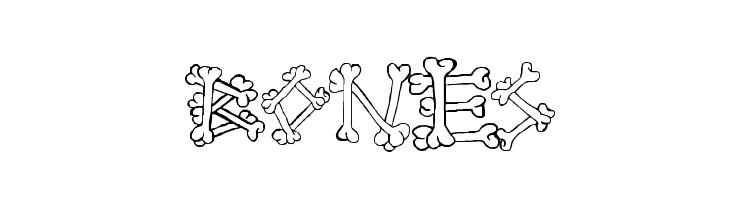 Bones2  Скачать бесплатные шрифты
