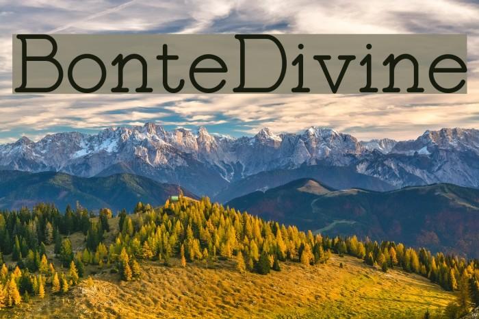 BonteDivine Font examples