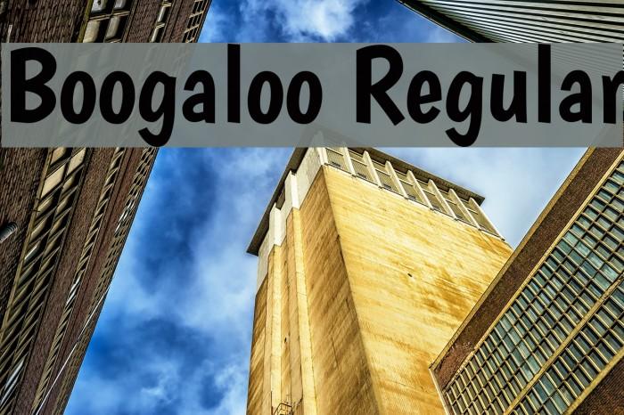 Boogaloo Regular Font examples
