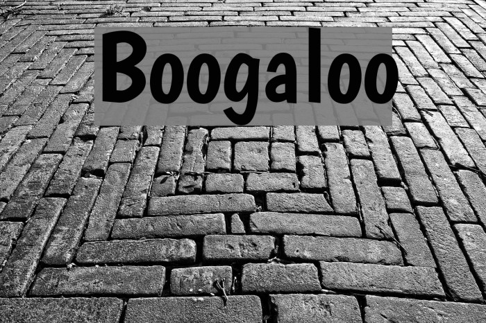 Boogaloo फ़ॉन्ट examples
