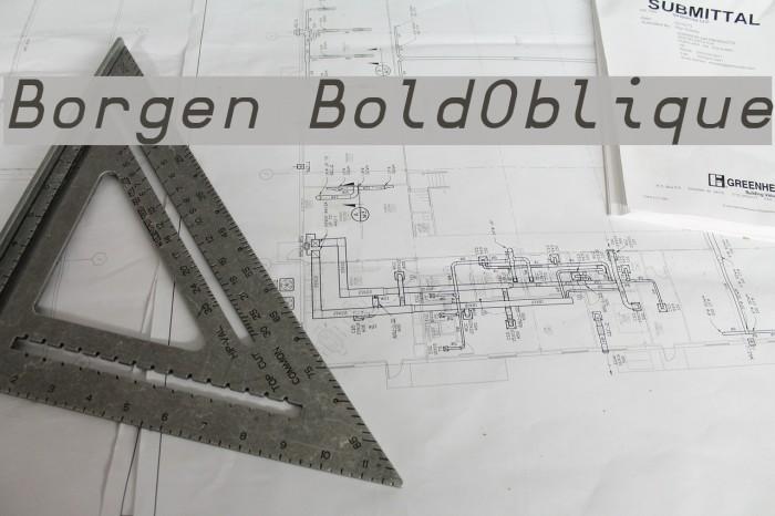 Borgen BoldOblique Fonte examples
