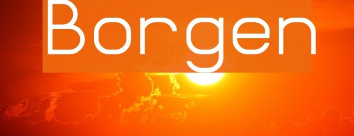 Borgen Font examples