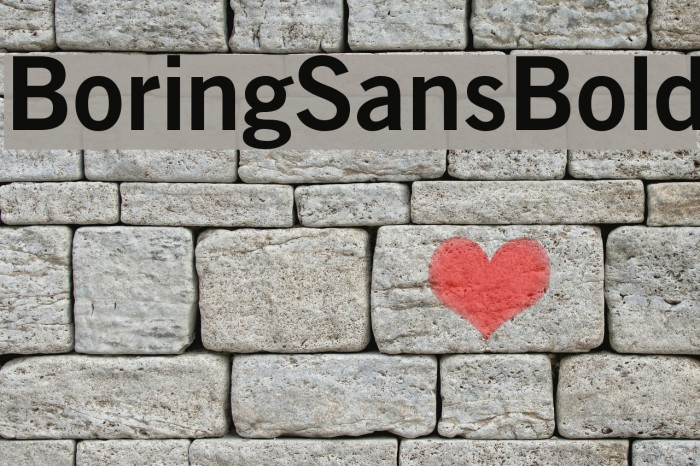 BoringSansBold Font examples
