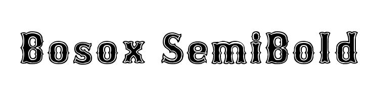 Bosox SemiBold  Frei Schriftart Herunterladen
