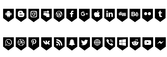 Bottons Social Media フォント 小文字