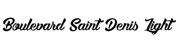 Boulevard Saint Denis Light  لخطوط تنزيل
