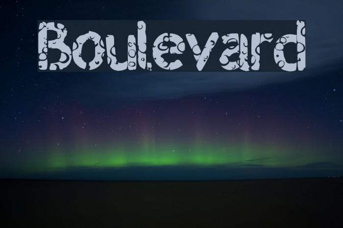 Boulevard Font examples