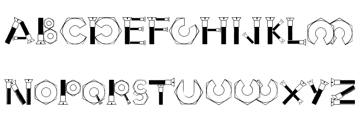 Boulons Tryout Font UPPERCASE