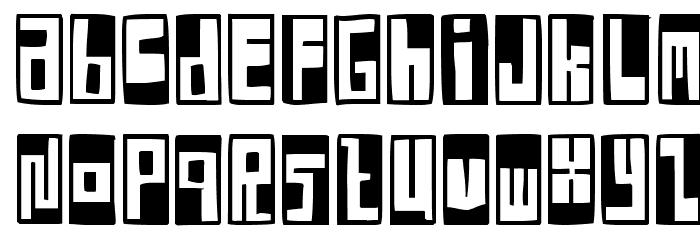 Box Font Negative Font LOWERCASE