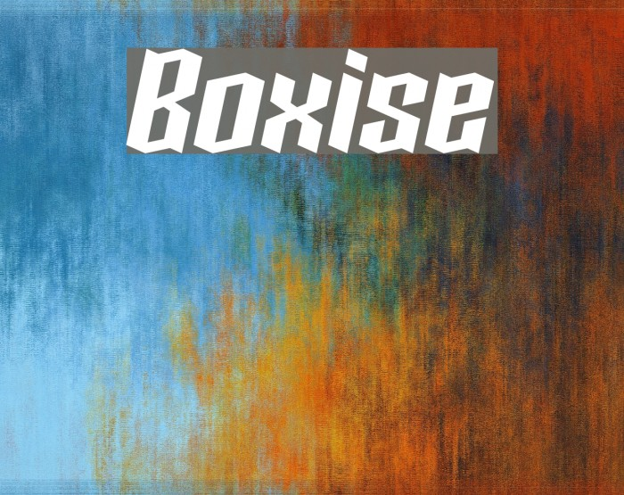 Boxise Fonte examples