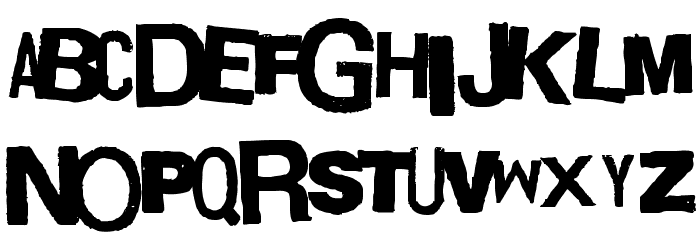 Boxpot Ametuer Font UPPERCASE