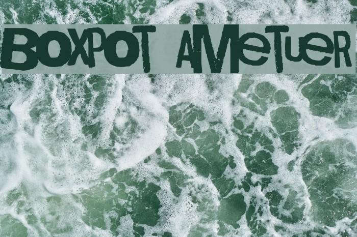 Boxpot Ametuer Font examples