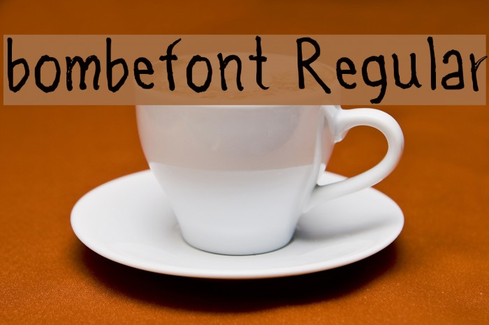bombefont Regular Font examples