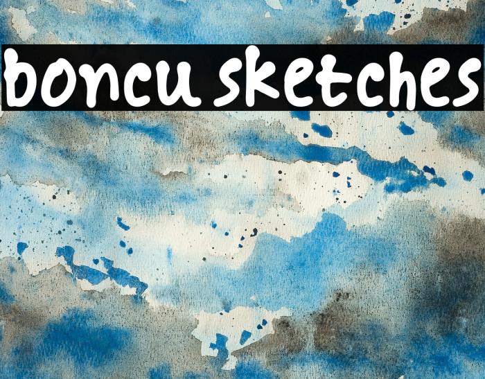 boncu sketches Font examples