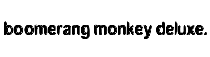 boomerang monkey deluxe.  Free Fonts Download