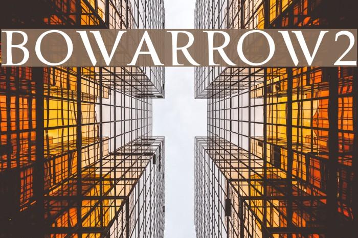 bowarrow2 Шрифта examples