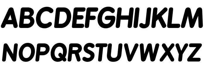 BPreplay-BoldItalic फ़ॉन्ट अपरकेस