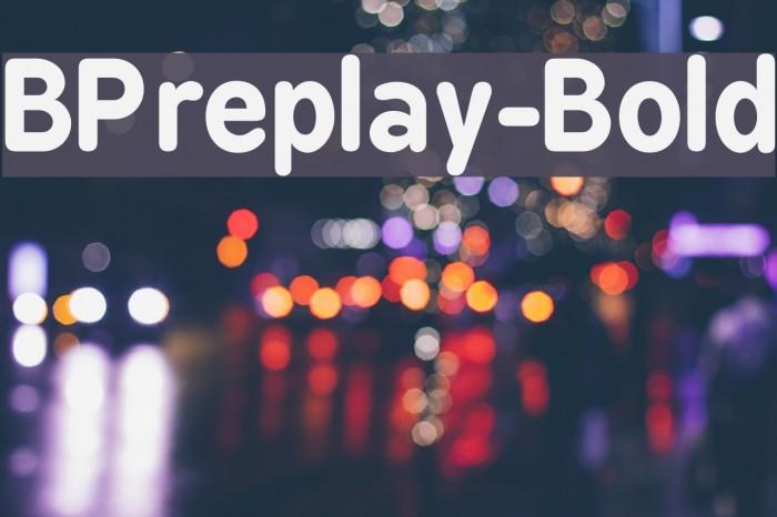 BPreplay-Bold फ़ॉन्ट examples