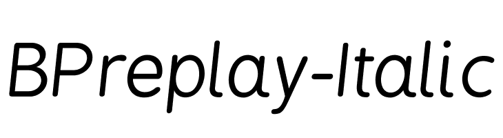 BPreplay Italic  Free Fonts Download
