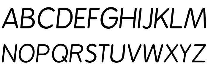 BPreplay-Italic फ़ॉन्ट अपरकेस