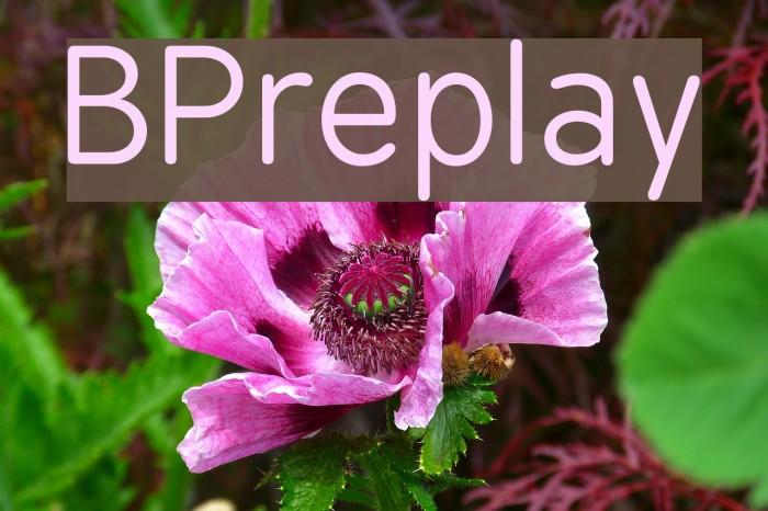 BPreplay फ़ॉन्ट examples