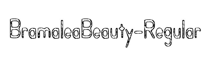 BramaleaBeauty-Regular  Free Fonts Download