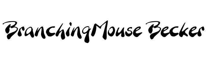 BranchingMouse Becker  font caratteri gratis