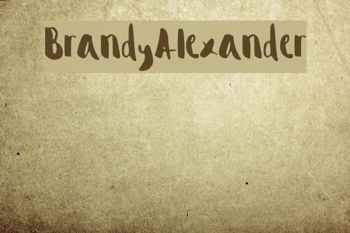 Brandy_Alexander फ़ॉन्ट examples