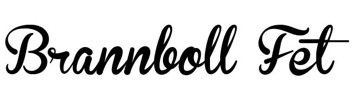 Brannboll Fet  Free Fonts Download