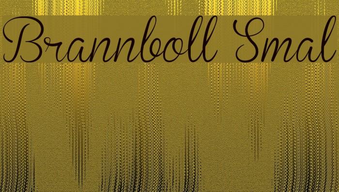 Brannboll Smal Font examples
