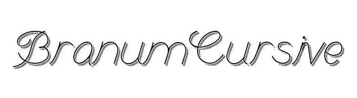 BranumCursive  font caratteri gratis