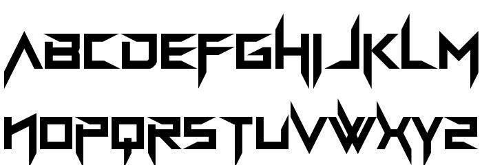 BravAda Arma Regular Schriftart Kleinbuchstaben