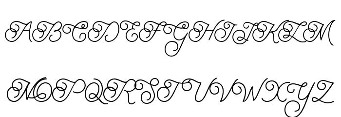 BraydenScript फ़ॉन्ट अपरकेस