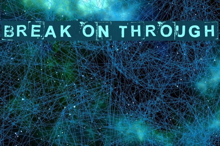 Break on through Шрифта examples