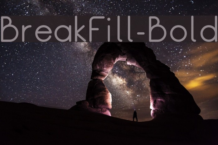 BreakFill-Bold Шрифта examples