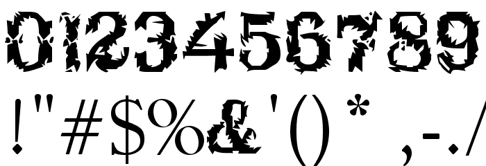 Breakable Font OTHER CHARS