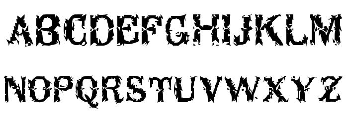 Breakable Font UPPERCASE