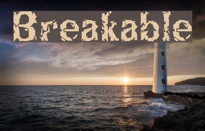 Breakable Font examples