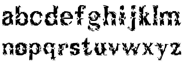 Breakable Font LOWERCASE