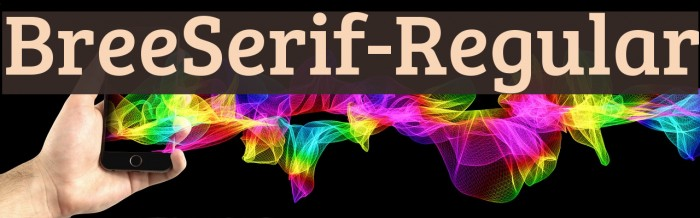 BreeSerif-Regular Font examples