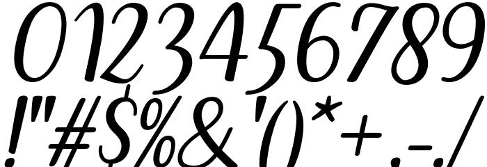 Breetty Italic Font Alte caractere